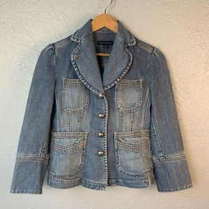 Banana Republic Stretch Denim Jean Jacket 0